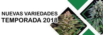 Nuevas variedades de marihuana temporada 2018