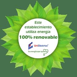 Usamos energia 100% renovable